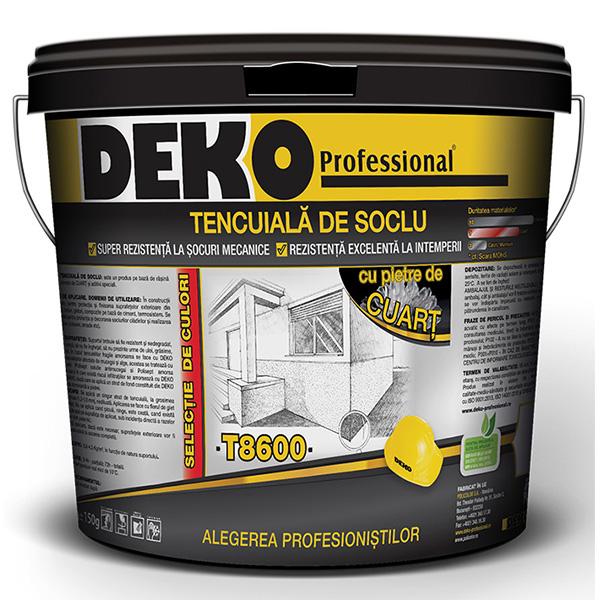 Tencuiala de soclu DEKO T8600 cu pietre de cuart