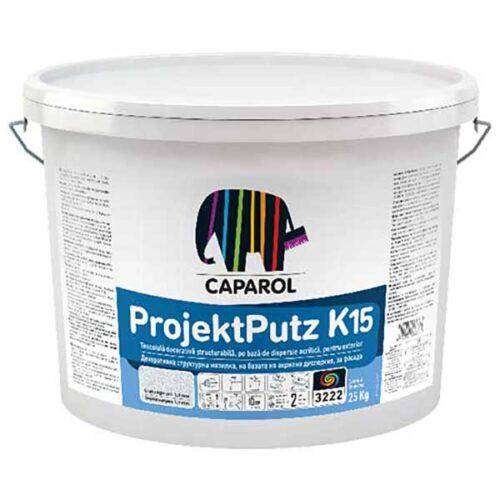 """Caparol ProjektPutz R si K tencuiala decorativa cu structura R """"zgariata"""" sau K """"bob langa bob"""" este ideala pentru finisarea sistemelor de termoizolatie."""