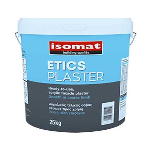Tencuiala acrilica Isomat Etics Plaster Decor este o tencuială acrilică, gata preparată, hidrofugă pentru suprafeţe rugoase si pe sisteme termoizolante.