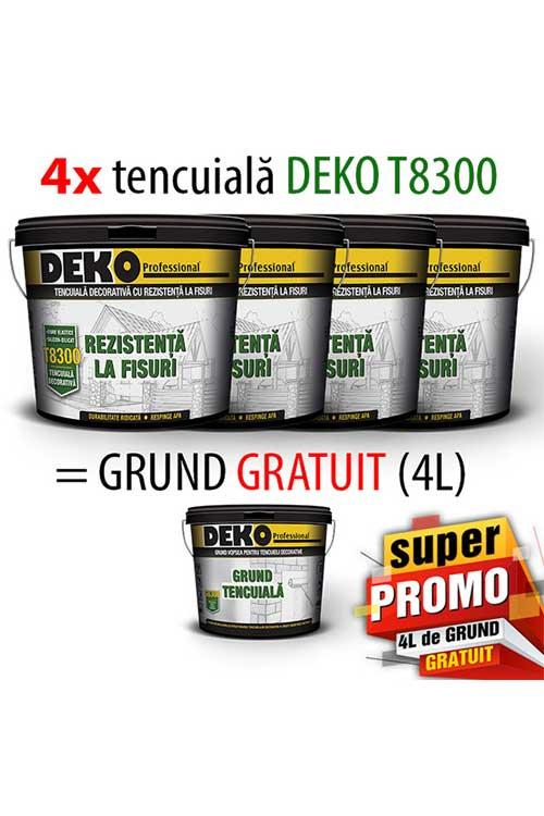 OFERTA 4xDEKO T8300 tencuiala=4L Grund GRATIS