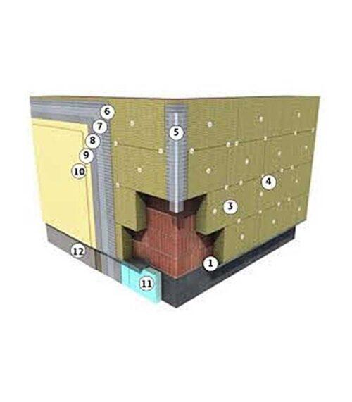 Sistem vata bazaltica WEBER asigura izolarea termica a peretilor exteriori cu termosistem pe baza de vata minerala.