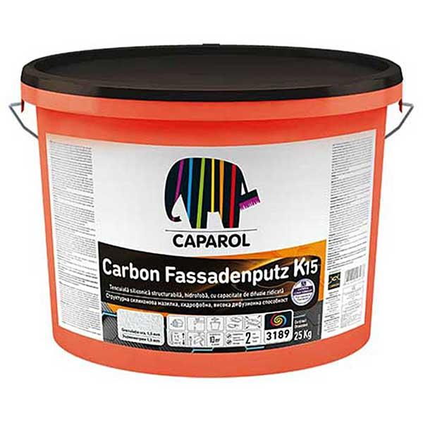 Tencuiala decorativa Caparol CarbonFassadenputz K si R este o tencuiala decorativa de inalta clasa, intarita cu fibre de carbon zgâriată sau bob de orez.