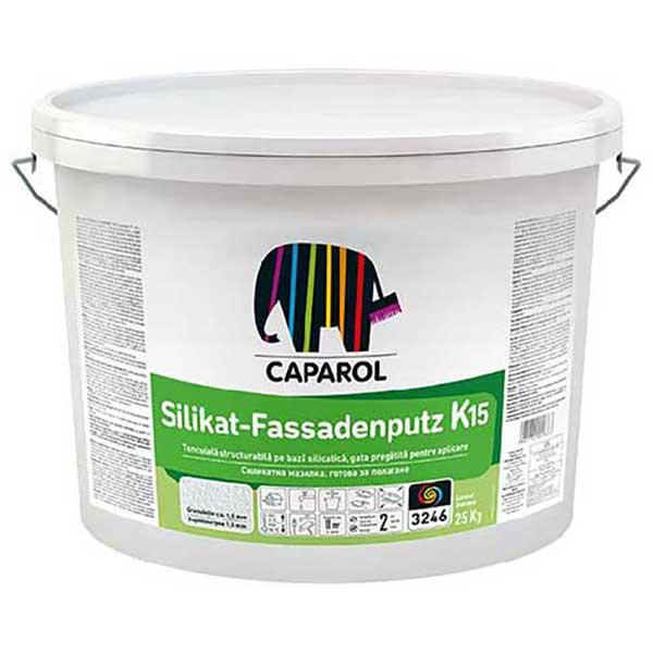 Tencuiala decorativa Caparol SilikatFassadenputz R si K este o decorativă silicatică, gata pregătită pentru aplicare. Pretul afisat este pentru ALB.