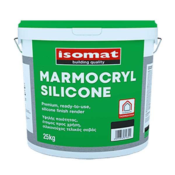 Tencuiala decorativa Isomat Marmocryl Silicone este o tencuială siliconică, gata preparată, color, hidrofugă recomandata pentru suprafeţe netede.