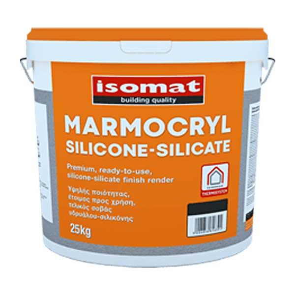 Tencuiala decorativa Isomat Marmocryl Silicone-Silicate este o tencuială hidrofugă, pastă, pe bază de silicon-silicat cu finisaj texturat-rugos.
