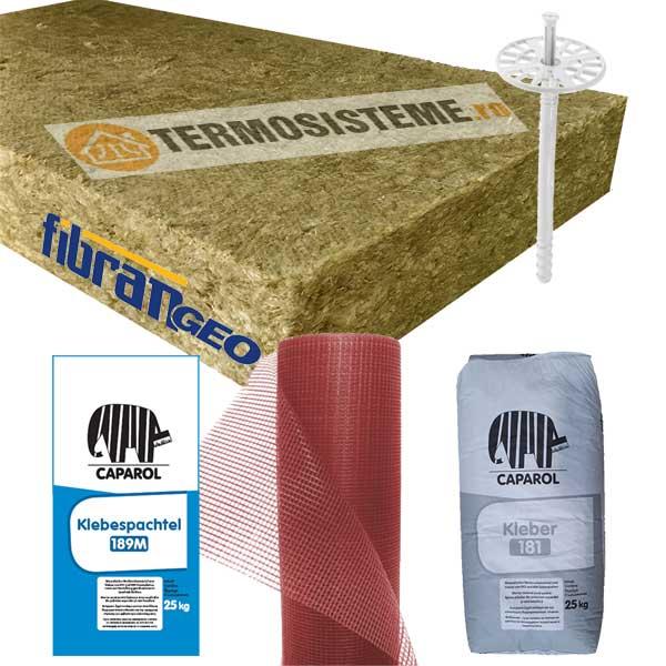 Termosistem vata bazaltica Caparol 10cmeste un sitem de izolare termica a fatadei alcatuit din vata bazaltica fatada 30 kPa 100mm (MW 100) Fibran de 10cm.